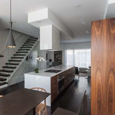 High-Gloss Toronto Townhome Kitchen